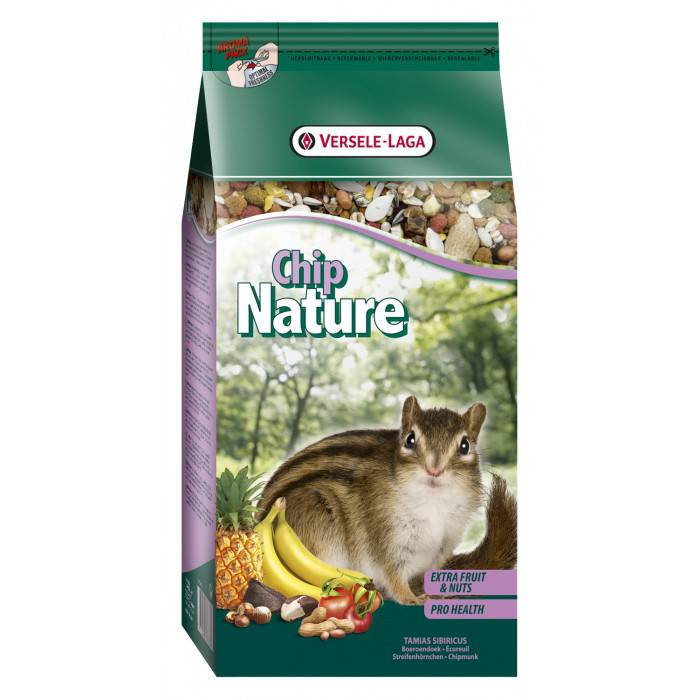 chip nature complete mixture for squirrel 750gr versele laga