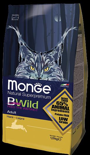 MONGE Superpremium Cat Bwild Adult Hare