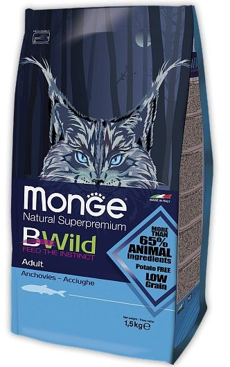 MONGE Superpremium Cat Bwild Adult Anchovies