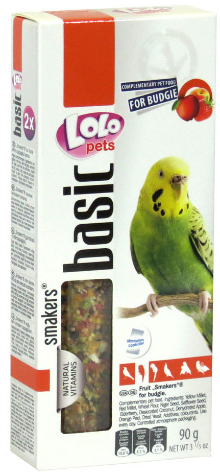 lolo pets basic smakers budgie fruits
